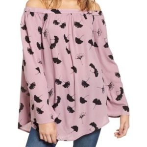 BP. Off the Shoulder Lilac Tunic Top NWT